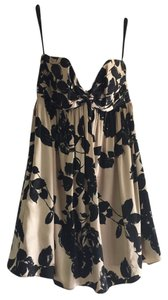 MILLY Silk Floral Strapless Dress