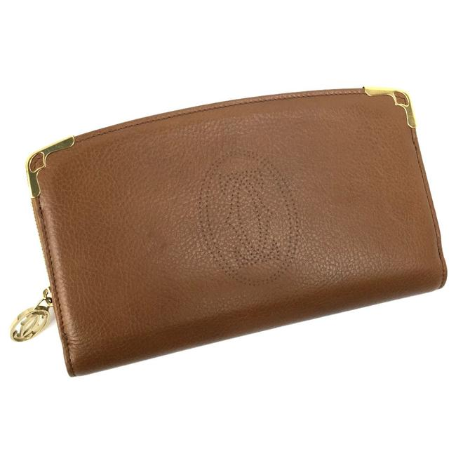 Item - Brown Long Marcello Round Zipper L3000817 Leather Ladies K81127844 Pd3 Wallet