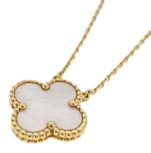 Van Cleef & Arpels Auth Van Cleef & Arpels Necklace Vintage Alhambra Shell Mother of Pearl K18YG Yellow Gold