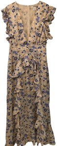 Blue and cream floral print Maxi Dress by Glamorous
