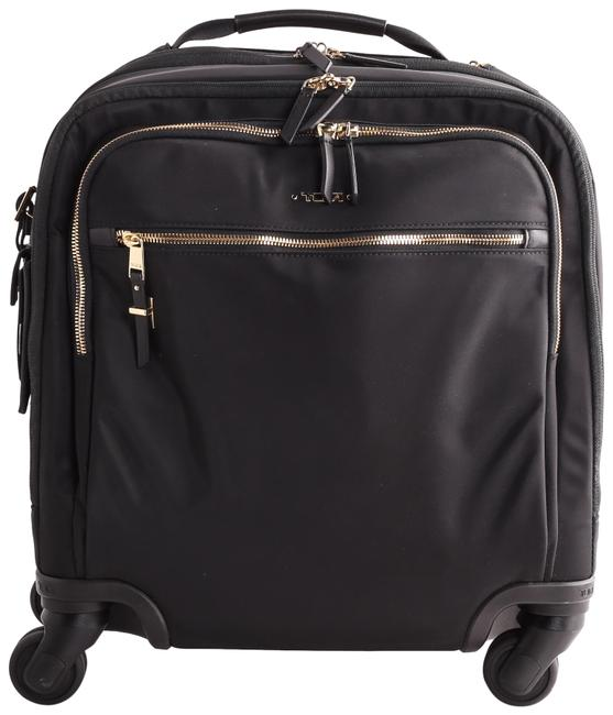 Item - Voyageur Osona Compact Carry-on Black/Gold Nylon Weekend/Travel Bag