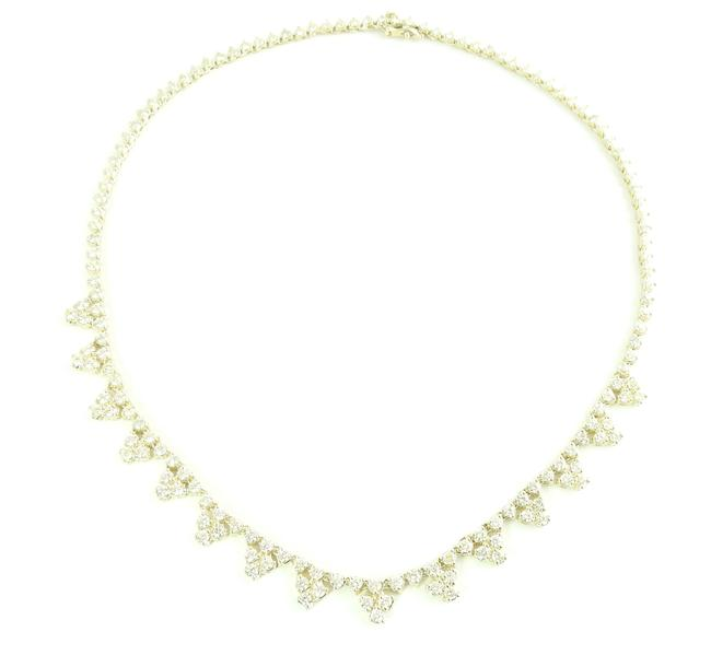 Item - Yellow Gold 14k Diamond Tennis 12.5 Cts 18in #5983 Necklace