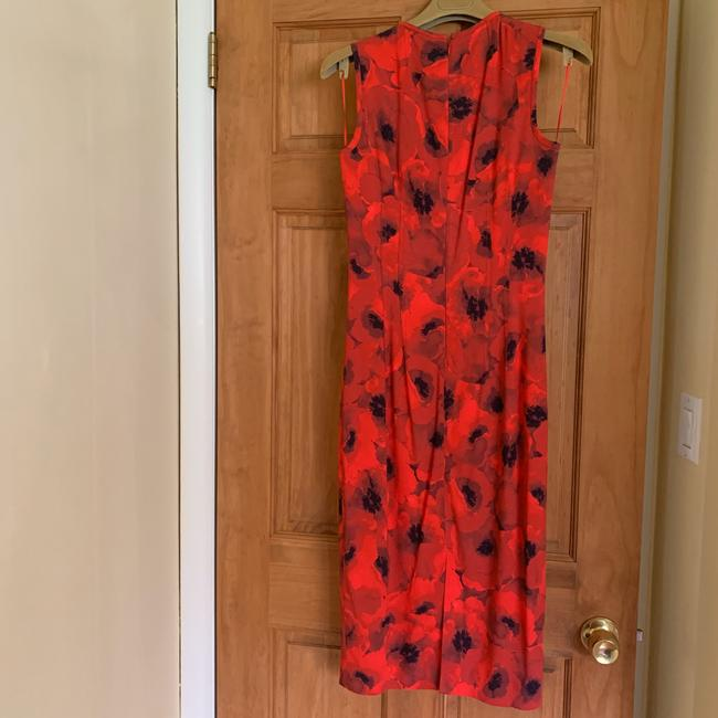 Michael Kors Collection Red/Black Couture Sleeveless Floral Poppy Sheath Mid-length Cocktail Dress Size 4 (S) Michael Kors Collection Red/Black Couture Sleeveless Floral Poppy Sheath Mid-length Cocktail Dress Size 4 (S) Image 10
