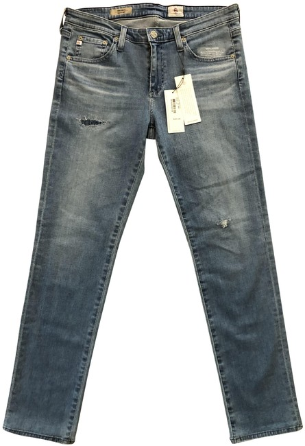 Item - Light Blue The Stella Slim Straight Relaxed Fit Jeans Size 30 (6, M)