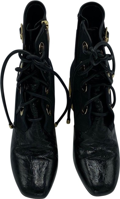 Item - Black and Gold 1088 Boots/Booties Size EU 37.5 (Approx. US 7.5) Regular (M, B)