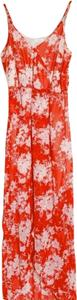 Red, White Maxi Dress by Lush