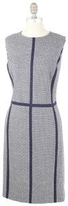 Boden Stretch Wool Sleeveless Geo-print Sheath Dress