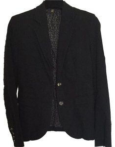 Jack Rogers Work Jacket Cotton Fully Lined Made In Usa Black Blazer
