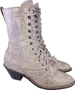 Acme Victorian Laceup Woman Size 9 M GRAY Boots