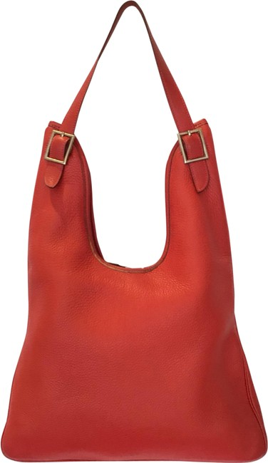 Item - Masai Pm Red Taurillon Clemence Leather Hobo Bag