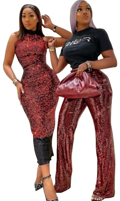Item - Burgundy Sequin (2074) Pants Size 8 (M, 29, 30)