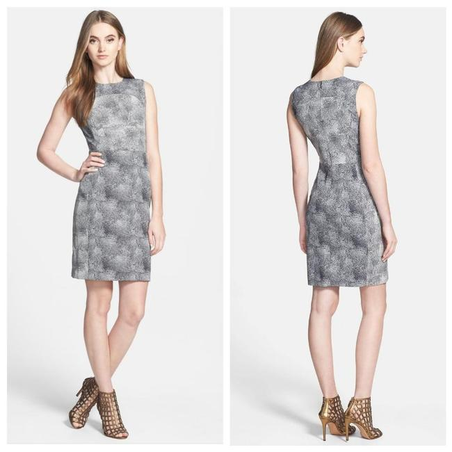 Item - Grey Eden Dvf Woven Printed Sheath Shift Mid-length Work/Office Dress Size 4 (S)