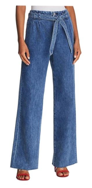 Item - High-rise Belted Trouser/Wide Leg Jeans Size 24 (0, XS)