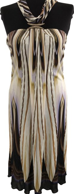 Item - Multi Color Print Halter Evening Mid-length Night Out Dress Size 8 (M)
