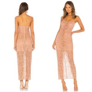 The Jetset Diaries Lace Midi Ruffle Gown Dress