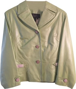 Terry Lewis Classic Luxuries Mint green Leather Jacket
