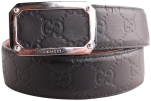 Gucci Gucci Signature Rectangle Buckle Belt