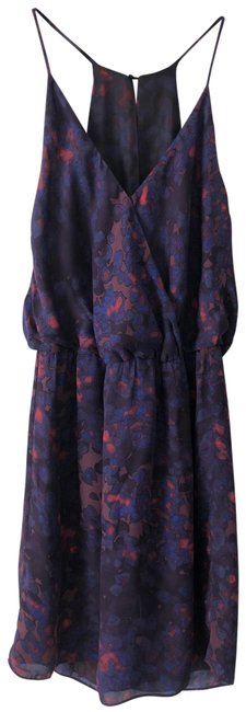 Item - Dark Purple Blue with Touch Of Pink Short Casual Dress Size 8 (M)