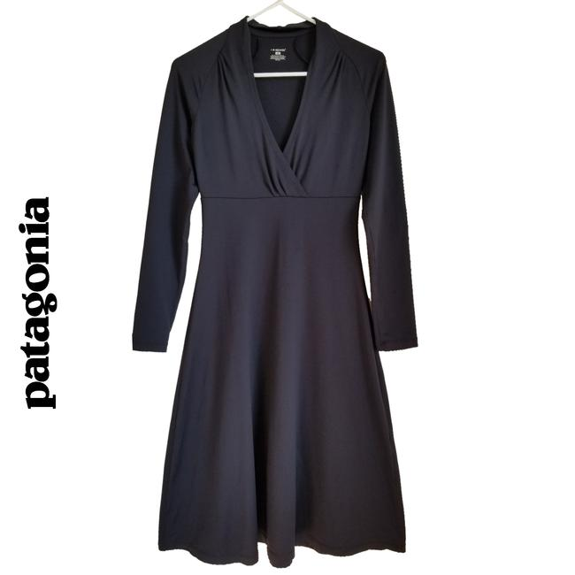Item - Black Wrap Crossover Mid-length Work/Office Dress Size 4 (S)