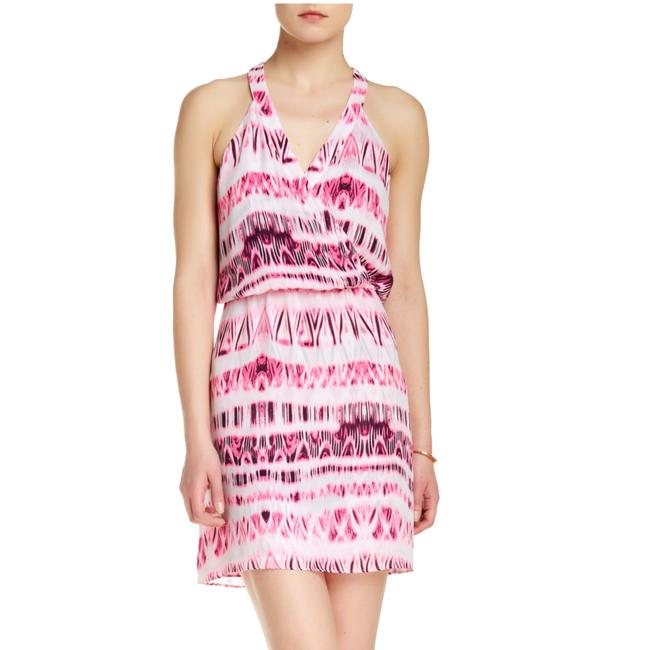 Item - Purple Pink and White Kita Short Casual Dress Size 4 (S)