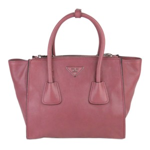 Prada 0dprst001 Vintage Leather Satchel in Pink