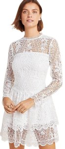 Monique Lhuillier short dress White Lace Spring Summer Mini Occasion on Tradesy