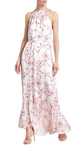 White Multi Maxi Dress by Monique Lhuillier Maxi Spring Summer Floral