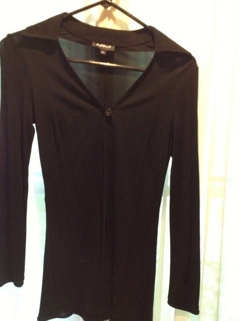 Other Rayon Collar Shirt Top Black