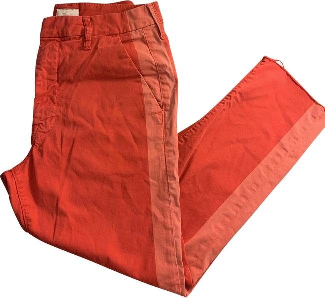 Item - Pink/Red Light Wash The Shaker Prep Fray Straight Leg Jeans Size 4 (S, 27)