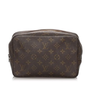 Louis Vuitton 0clvcl010 Vintage Canvas Wristlet in Brown