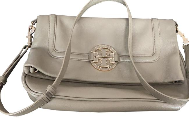 Tory Burch Cross Body Pale Olive Green Leather Tote Tory Burch Cross Body Pale Olive Green Leather Tote Image 1