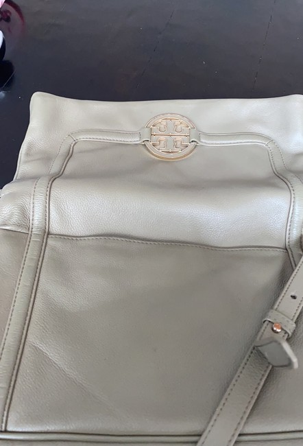 Tory Burch Cross Body Pale Olive Green Leather Tote Tory Burch Cross Body Pale Olive Green Leather Tote Image 5