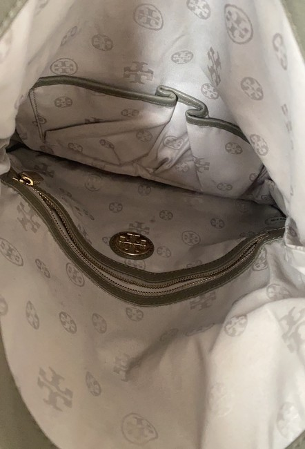 Tory Burch Cross Body Pale Olive Green Leather Tote Tory Burch Cross Body Pale Olive Green Leather Tote Image 6