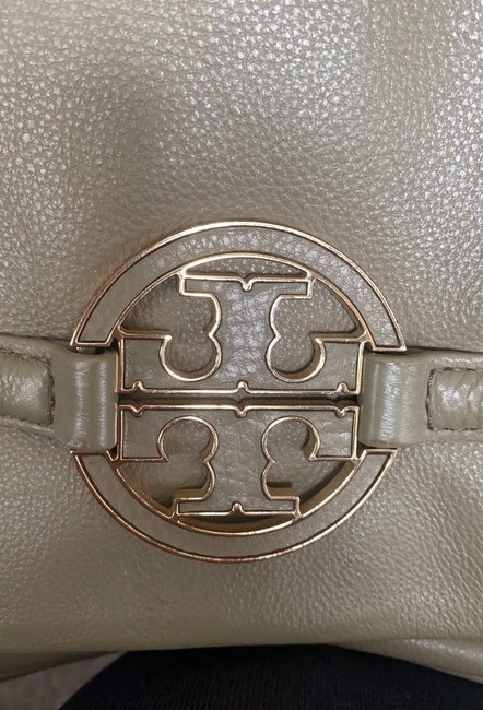 Tory Burch Cross Body Pale Olive Green Leather Tote Tory Burch Cross Body Pale Olive Green Leather Tote Image 7