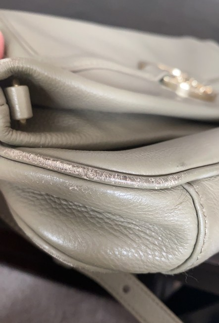 Tory Burch Cross Body Pale Olive Green Leather Tote Tory Burch Cross Body Pale Olive Green Leather Tote Image 9