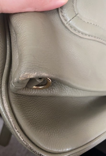 Tory Burch Cross Body Pale Olive Green Leather Tote Tory Burch Cross Body Pale Olive Green Leather Tote Image 10
