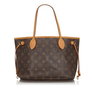 Louis Vuitton 0alvto048 Vintage Leather Tote in Brown