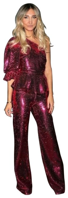 Item - Fuchsia Limited Edition Sequin Top + Co-ord Set Pant Suit Size 4 (S)