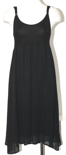 Item - Black Cashmere and Silk Mid-length Short Casual Dress Size 4 (S)