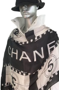 Chanel Rare Limited Edition Letters Celebrity Logos White black Jacket