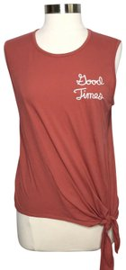 Junk Food Junkfoodxdisney Knotfront Top Red