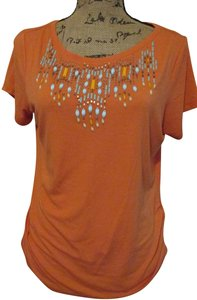 Ruby Rd. Beaded Ruched Short Sleeve Tunic