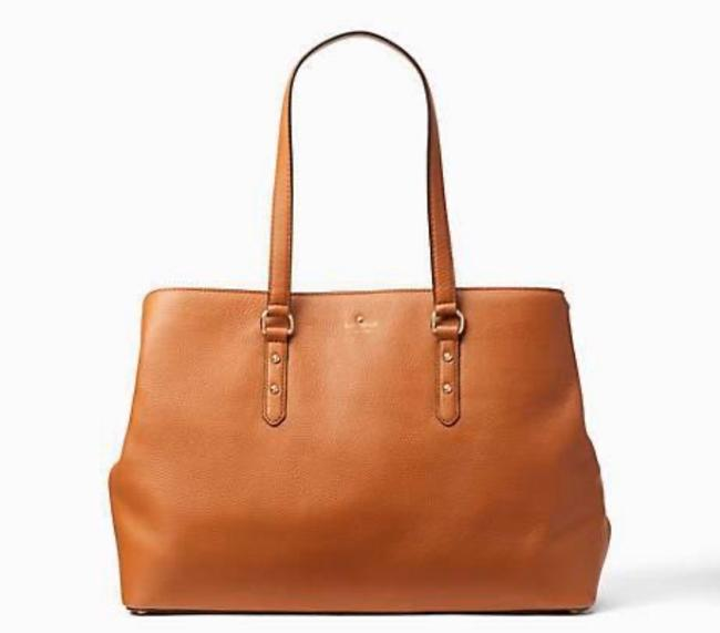 Item - Larchmont Avenue Large Evangelie Warm Gingerbread Brown (910) Soft Leather Tote