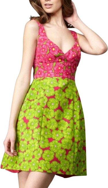 Item - Pink and Green Girls Only Short Casual Dress Size 2 (XS)