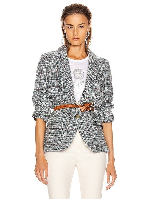 Item - Grey/Blue Kice Tweed Blazer Size 4 (S)