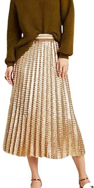 Item - Bronze/Gold Natalia Lined Sequin Skirt Size 10 (M, 31)