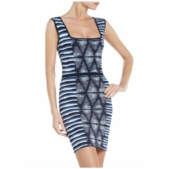 Item - Blue and White Haily Short Casual Dress Size 8 (M)
