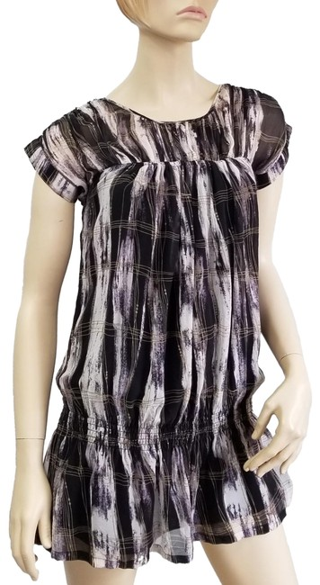 Item - Brown and White Plaid Short Casual Dress Size 2 (XS)