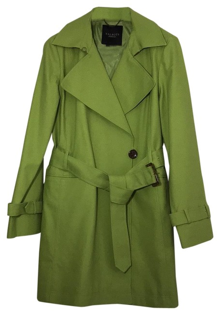 Item - Spring Green Mid-thigh Coat Size 10 (M)