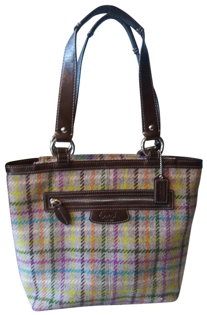 Item - 15536 Penelope Tattersall Multicolor Wool Tote